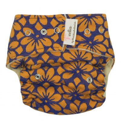 Wollsnapüberhose kbT Blossom orange/violet Onesize