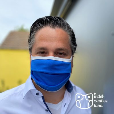 Mundbedeckung mit Nasenbügel blau