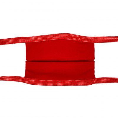 Mundbedeckung mit Nasenbügel rot