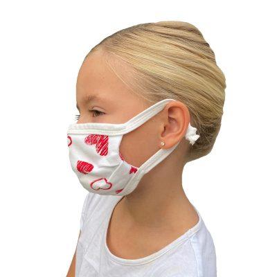 Mundbedeckung für Kinder Herzen