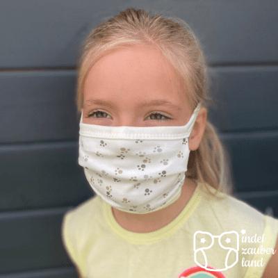 Mundbedeckung für Kinder Pfoten