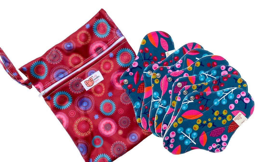 Slipeinlagen Floral 7-Tage Paket mit Mini-Wetbag