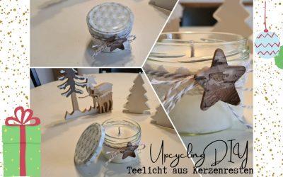 Nachhaltige Geschenkidee: Teelicht aus Kerzenresten