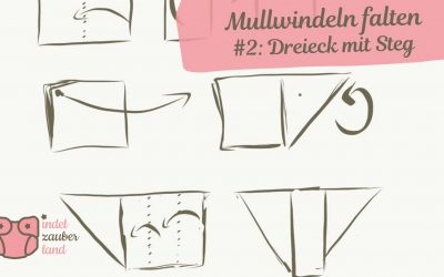 Mullwindeln falten – Dreieck mit Steg