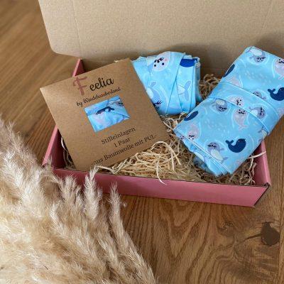 Die Geschenkbox- Für Zauberhafte MOMente - Pinky Pig, Stilleinlagen, Wickelunterlage, Waschläppchen